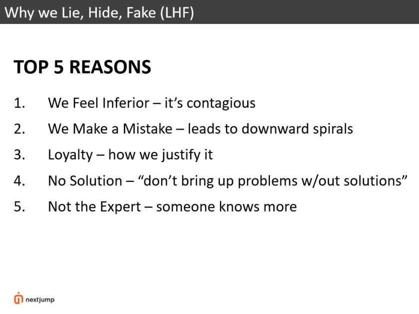 Why we LHF